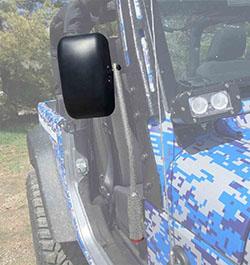 Jeep JL Wrangler Door Mirror Kit Gray Hammertone