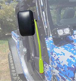 Jeep JL Wrangler Door Mirror Kit Gecko Green