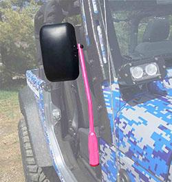 Jeep JL Wrangler Door Mirror Kit Hot Pink