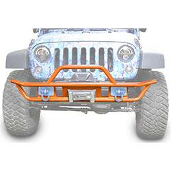 Jeep JK Wrangler Front Tube Bumper Fluorescent Orange
