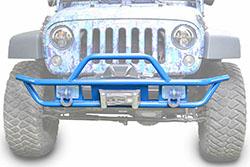 Jeep JK Wrangler Front Tube Bumper Playboy Blue