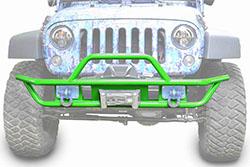 Jeep JK Wrangler Front Tube Bumper Neon Green
