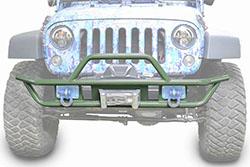 Jeep JK Wrangler Front Tube Bumper Locas Green