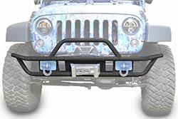 Jeep JK Wrangler Front Tube Bumper Textured Black