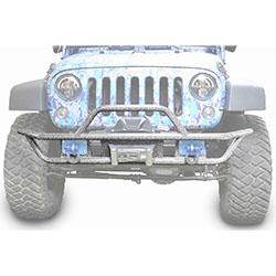 Jeep JK Wrangler Front Tube Bumper Gray Hammertone