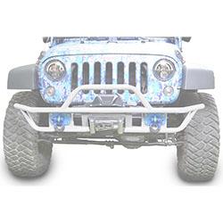 Jeep JK Wrangler Front Tube Bumper Cloud White