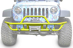 Jeep JK Wrangler Front Tube Bumper Neon Yellow