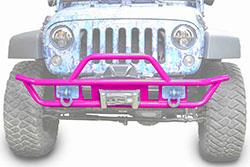Jeep JK Wrangler Front Tube Bumper Hot Pink