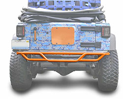 Jeep JK Wrangler Rear Tube Bumper Fluorescent Orange