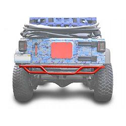 Jeep JK Wrangler Rear Tube Bumper Red Baron