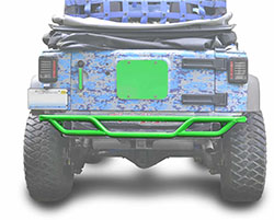 Jeep JK Wrangler Rear Tube Bumper Neon Green