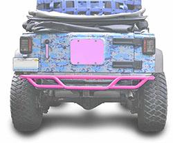 Jeep JK Wrangler Rear Tube Bumper Pinky