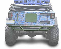Jeep JK Wrangler Rear Tube Bumper Locas Green