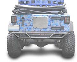 Jeep JK Wrangler Rear Tube Bumper Gray Hammertone