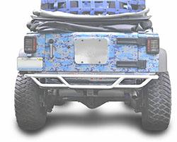 Jeep JK Wrangler Rear Tube Bumper Cloud White