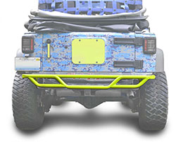 Jeep JK Wrangler Rear Tube Bumper Neon Yellow