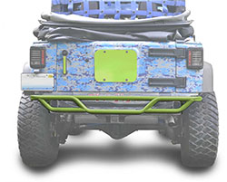 Jeep JK Wrangler Rear Tube Bumper Gecko Green