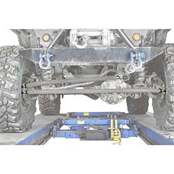 Jeep TJ Wrangler Gray Crossover Steering Kit