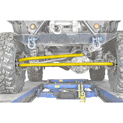 Jeep TJ Wrangler Neon Yellow Crossover Steering Kit