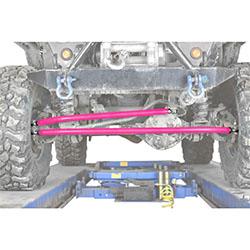 Jeep TJ Wrangler Pink Crossover Steering Kit
