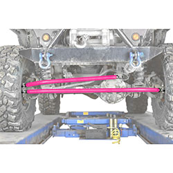 Jeep XJ Cherokee Hot Pink Crossover Steering Kit
