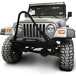 Jeep TJ Wrangler Front Bumper with Stinger Black