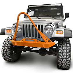 Jeep TJ Wrangler Front Bumper with Stinger Fluorescent Orange
