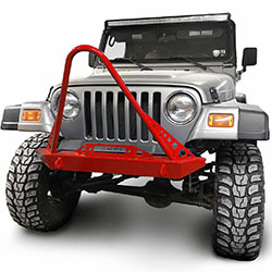 Jeep TJ Wrangler Front Bumper with Stinger Red Baron
