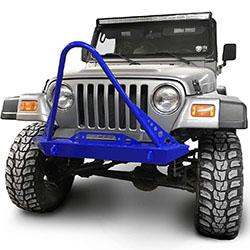 Jeep TJ Wrangler Front Bumper with Stinger Southwest Blue