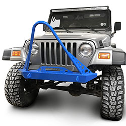 Jeep TJ Wrangler Front Bumper with Stinger Playboy Blue
