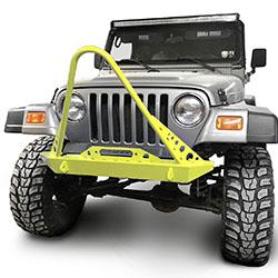 Jeep TJ Wrangler Front Bumper with Stinger Lemon Peel