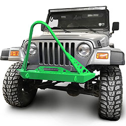 Jeep TJ Wrangler Front Bumper with Stinger Neon Green