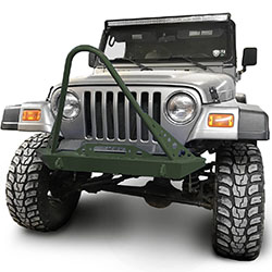 Jeep TJ Wrangler Front Bumper with Stinger Locas Green