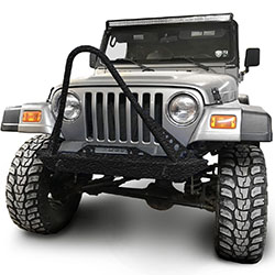 Jeep TJ Wrangler Front Bumper with Stinger Texturized Black