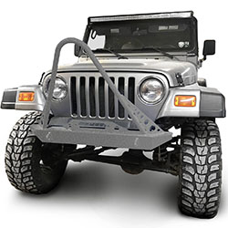 Jeep TJ Wrangler Front Bumper with Stinger Gray Hammertone
