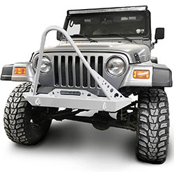 Jeep TJ Wrangler Front Bumper with Stinger White