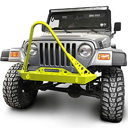 Jeep TJ Wrangler Front Bumper with Stinger Neon Yellow