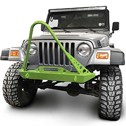 Jeep TJ Wrangler Front Bumper with Stinger Gecko Green