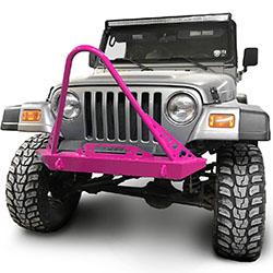 Jeep TJ Wrangler Front Bumper with Stinger Hot Pink