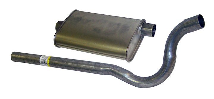 Jeep CJ Muffler Assembly, CJ5, CJ7, 2.5L 4.2L 5.0L