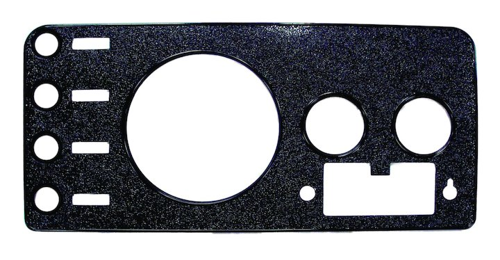 CJ Dash Overlay Panel, Black