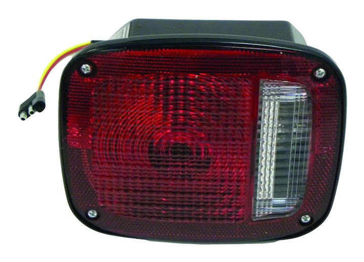 Left Tail Lamp Assembly, Black, 1976-80 Jeep CJ
