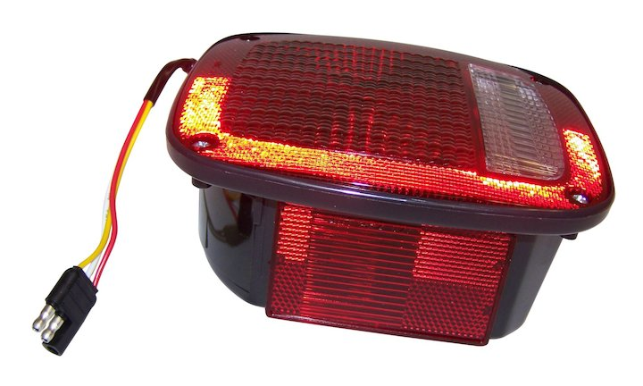 Right Tail Lamp with Side Marker, Black, 81-86 Jeep CJ