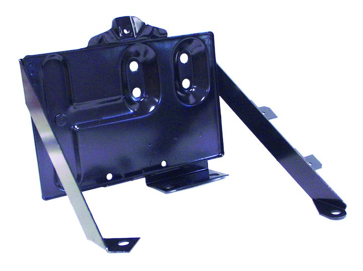 CJ Battery Tray, Black, 76-86 Jeep CJ