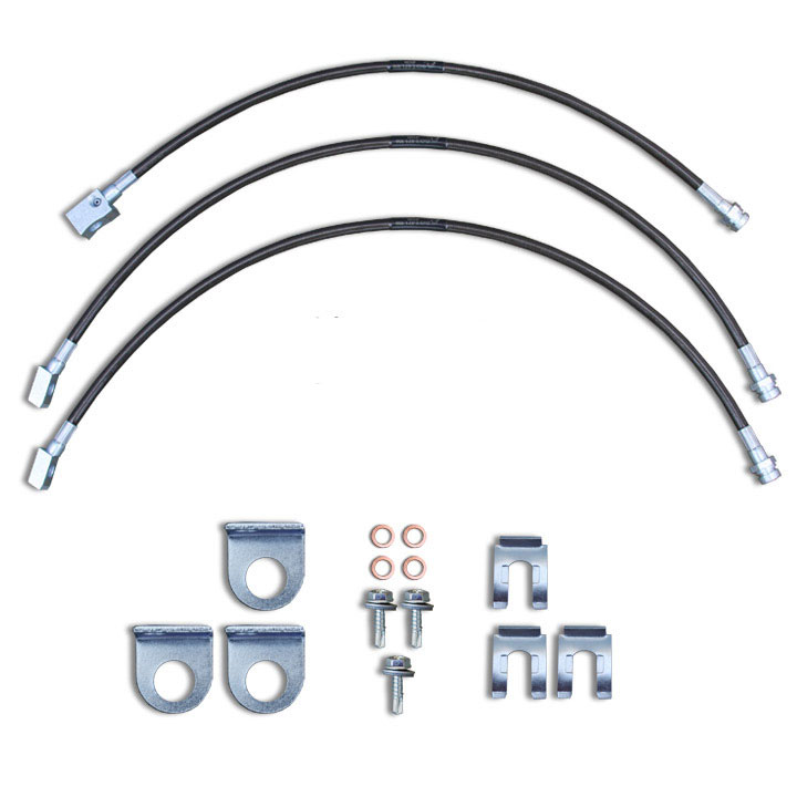 Stainless Steel Brake Line Kit 90-96 Wrangler 0-7