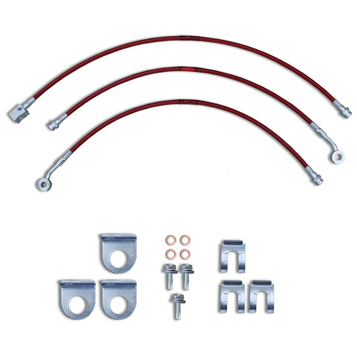 Stainless Steel Brake Line Kit 97-06 Wranglers 3-4