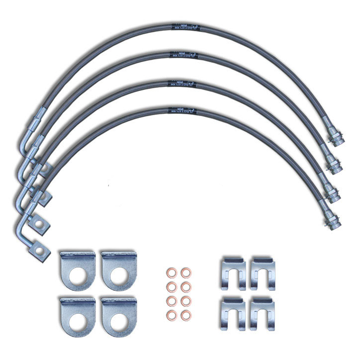 Stainless Steel Brake Line Kit 2007-10 Wranglers with 0-2