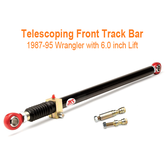 JKS Telescoping Front Track Bar 87-95 Wrangler 6 inch Lift