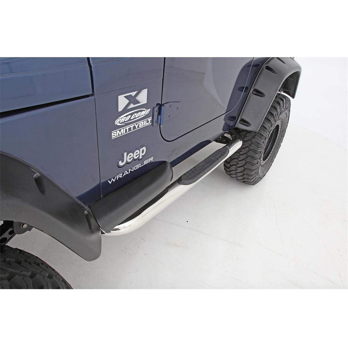 Smittybilt Sure Step 3 inch Side Bars 97-06 Wranglers Stainless Steel