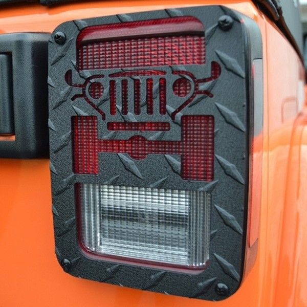 Jeep Tweaks Black Tail Light Guards 07-17 Wranglers